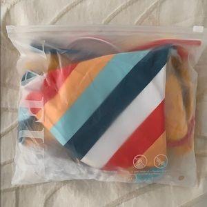 Zaful Swim - Bright striped bathing suit